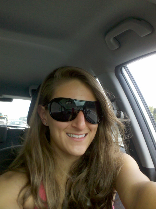 "134a48f284 I am wearing Oakley Women s Immerse Sunglasses! As you can see they are  ""shield-style"" sunglasses"
